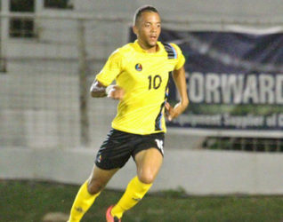 Calaum Jahraldo-Martin … scored twice for Antigua and Barbuda. (file photo)