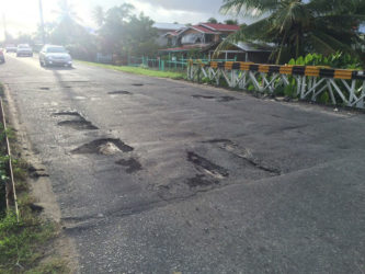 A bridge at Better Hope ECD filled with potholes