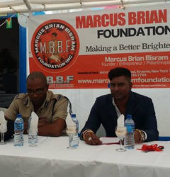 Commander of B Division, Ian Amsterdam (left) and Marcus Brian Bisram