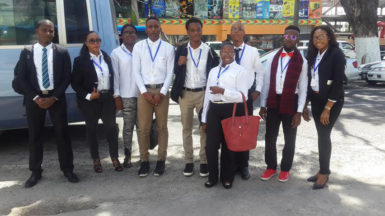 The volunteers who left for Barbados