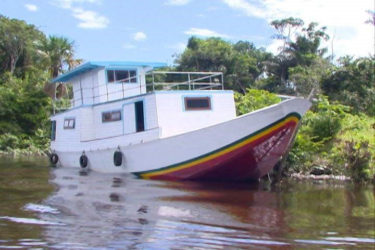 The boat that Regional Chairman Renis Morian said never worked on the Berbice River at Sand Hill