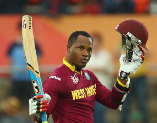 Marlon Samuels … top-scored with 92 as West Indies chased down 266 to beat Australia at Warner Park last Wednesday.