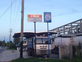 The R. Prasad Service Station at Mon Repos, ECD where the robbery occurred.