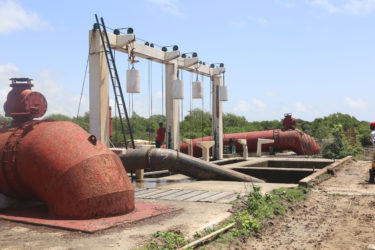 The two giant pumps at the pump station