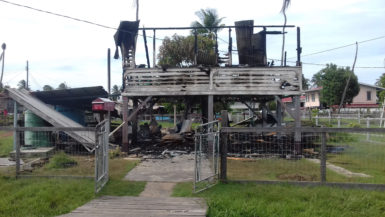 The destroyed Nigg house