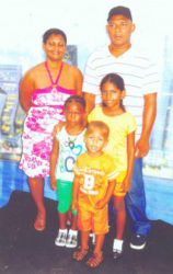The Blanchard family in happier times: From left: Onica Blanchard, Joy Blanchard, John Blanchard, Belika George and Daniel Blanchard.
