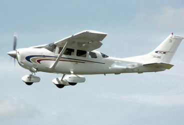 A Cessna 206 – the model of the planes flown out of Eugene F Correia International Airport, at Ogle yesterday