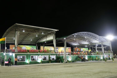 Two of the better appointed stands at D'Urban Park (Stabroek News file photo/Keno George)