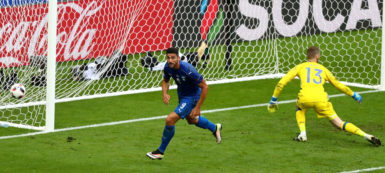 Italy's Graziano Pelle puts the issue beyond doubt with the second and final goal.