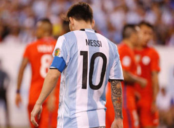 Argentina's Lionel Messi is turning his back on international football following Sunday's Copa America defeat of Argentina by Chile.
