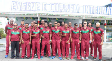 The Guyana Amazon Warriors winged out for St Kitts yesterday ahead of the clash against the St Kitts and Nevis Patriots on Thursday as the 2016 Hero CPL T20 Tournament bowls off.