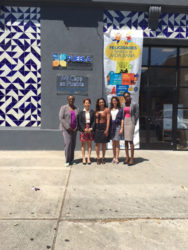 The Guyanese team visiting a Mexican community organisation.