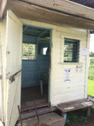 The guard hut where the chopping started