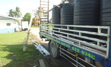Loading up to deliver water to Diamond residents