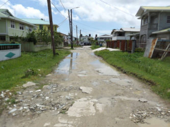 A street in the constituency that needs urgent repairs