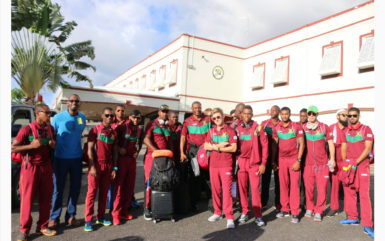 Director of Sport Christopher Jones welcomed the Guyana Amazon Warriors Sunday upon their return home ahead of their four matches which begin this week.