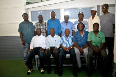 Riled up: The members of the GCAG who visited the office of the Stabroek News earlier this week.