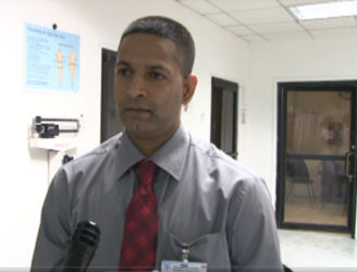 Dr. Kishore Persaud, Transplant Surgeon and Head of the Nephrology Department at the George-town Public Hospital Corporation (Government Information Agency photo)