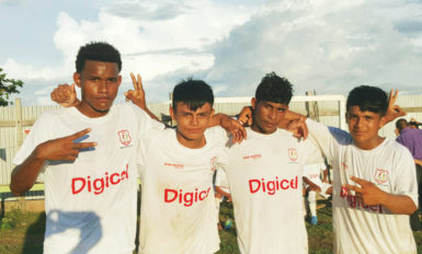 St. Ignatius scorers from left to right David Coates, Kenbert Salvador, Orlando Francis via and Chadrick Torres