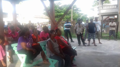 Villagers at the meeting