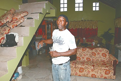 Clive Jackson recalls the attack on his relatives at the home of Andre Francis in Hardbargain yesterday.
