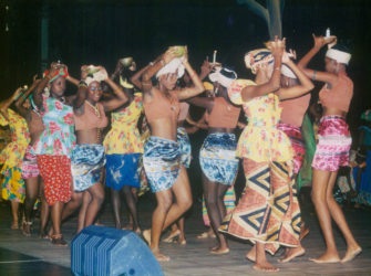 Dancers at 'A Celebration of African Heritage 4' (Stabroek News file photo)