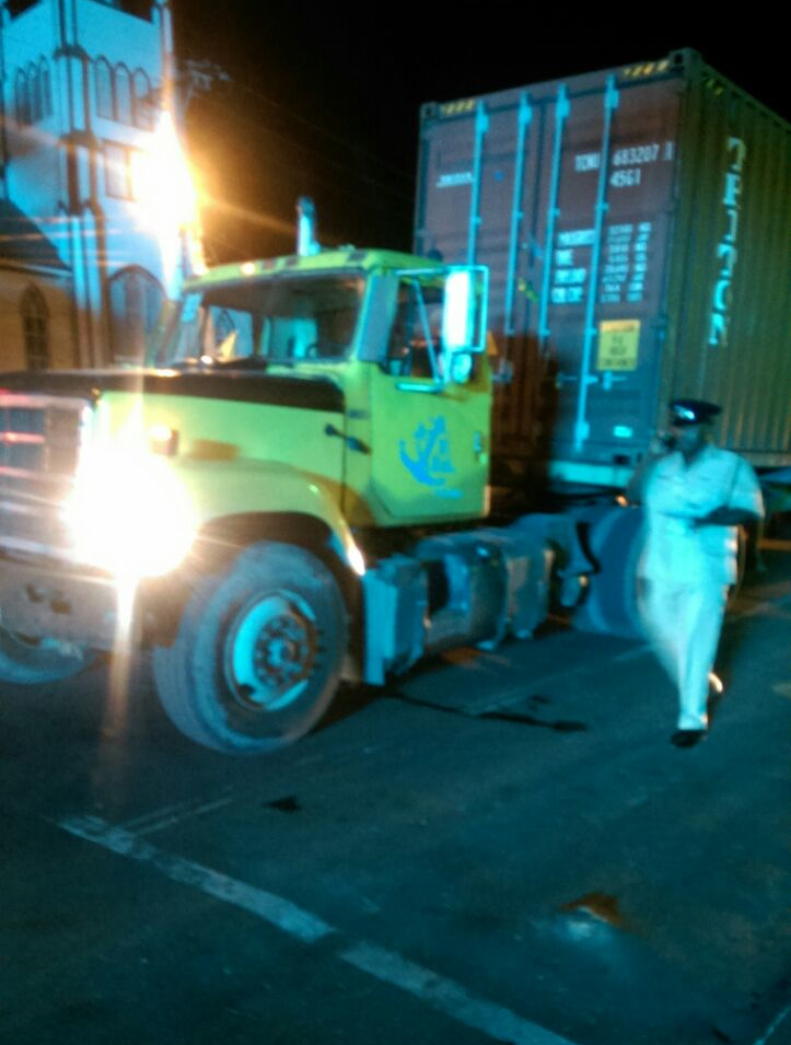 Unidentified man crushed to death by container truck – Stabroek News
