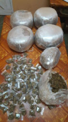 The drugs that were found. (Guyana Police Force photo)