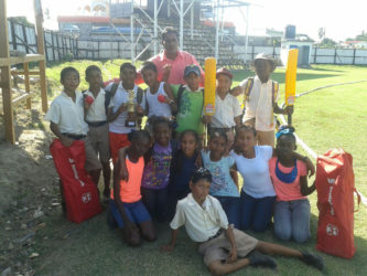 Members of the Greenwich Primary School which defeated  Zeelugt Primary to win the Essequibo Zone