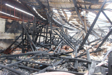 The aftermath of the Gafoor's fire