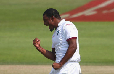 ON THE UP! West Indies fast bowler Shannon Gabriel.