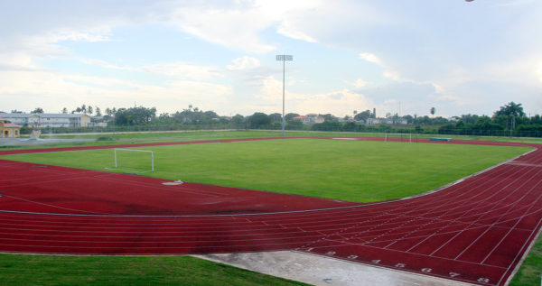 The National Track & Field Centre at Leonora, site for today's Opening Ceremony (18:00h) and the track and field events scheduled for today (19:00 h) and tomorrow (16:00h).