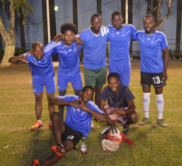 The newly crowned Banks DIH Limited Inter-Department 5-aside Football Champions the Sales Department team