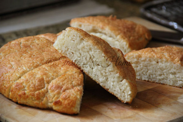 Mildly sweet, tender Coconut Oil Coconut Scones By Cynthia Nelson