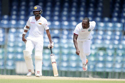 Speedster Keon Joseph … picked up two wickets during Sri Lanka A's second innings.