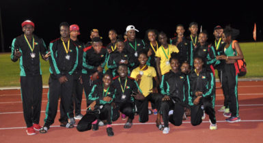Inter Guiana Games track and field champions Team Guyana