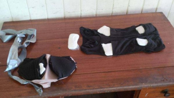 The undergarments with the cocaine (Police photo)