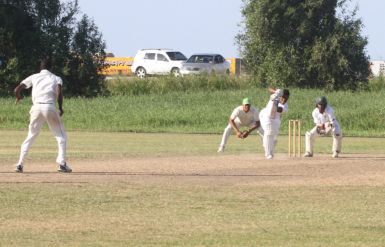 Shimron Hetmyer during his 2nd innings knock of 50
