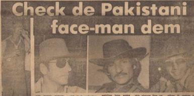 Members of the 1977 Pakistani team featured in the April 16, 1977 edition of The Star newspaper.
