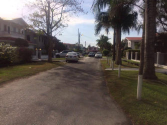 Heliconia Avenue, Eccles, East Bank Demerara, where the two men were arrested.