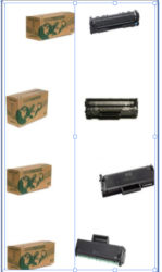 Images of toner cartridges re-made by Suriname Cartridge Depot