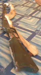 The .38 special rifle that police say was found at Manari, Rupununi (Guyana Police Force photo)
