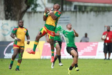 Action from the Guyana/Jamaica encounter yesterday