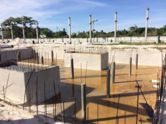 One of the reservoirs under construction