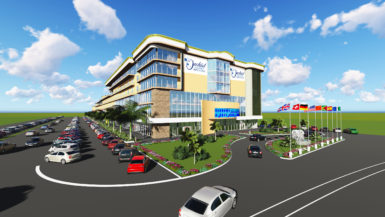 An artist's impression by Aqua Sun Design of the Orchid Garden Hotel and Shopping mall when completed.