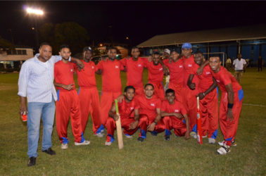 All Smiles! The new Banks DIH Limited Inter-Department tapeball cricket champions Soft Drink Plants posing for the camera after defeating Brewery in the final to claim their fifth Championship.