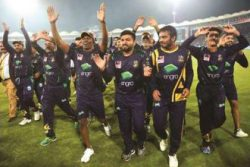The Quetta Gladiators celebrating after capturing their first ever PSL title.
