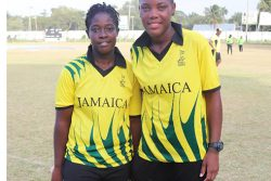 (l-r) Vanessa Watts (4-25) and player-of the match Chinelle Henry (54 and 2-17).