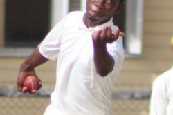 leg spinner Akeem Clarke snatched 6-14 to guide TSC past GCC (Royston Alkins photo)