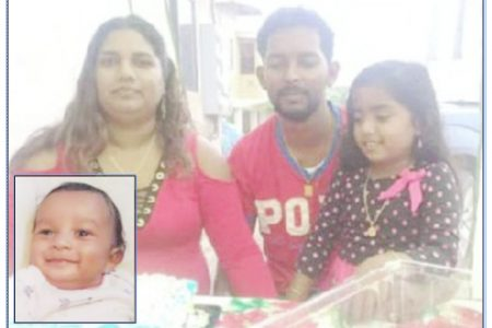 Found dead on Friday: Cunupia family Barry Choon, Shalini Sookdeo-Choon and their children, Sarah and Jacob (inset).